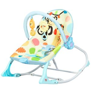 Baby Bouncer with Adjustable Seat and Toys