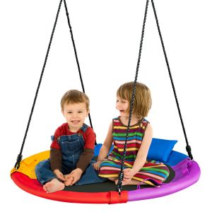 100cm Round Saucer Tree Swing with Pillow & Handle