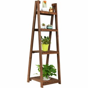 4 Tier Wooden Folding Plant Stand / Display Stand