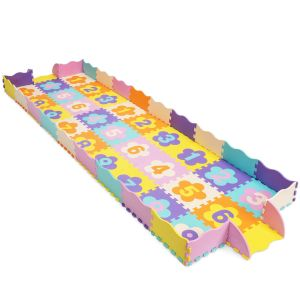 75Pcs Baby Soft EVA Foam Children Play Mat with Numeral Puzzle Jigsaw
