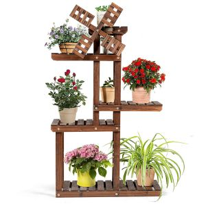 5 Tier Wooden Plant Stand for Indoors or Out