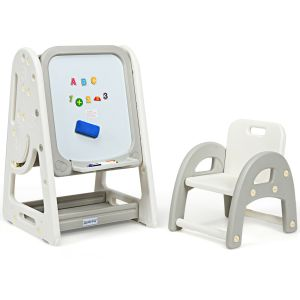 Children's Art Easel and Study Desk with Chair