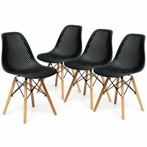 2Pcs DSW Dining Chair Shell PP Lounge Set