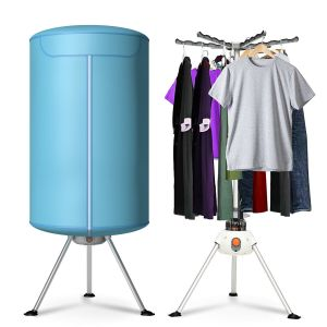 Portable Vent-less Retractable Clothes Dryer with Auto-timer