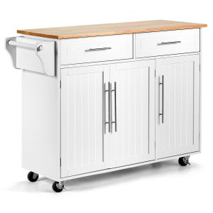 Kitchen Island Trolley with Shelves