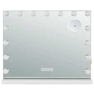 Hollywood Makeup Mirror with LED Lights and Bluetooth Speaker