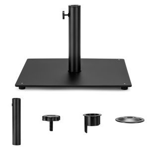 Patio Umbrella Steel Plate Stand Base with 3 Adapters