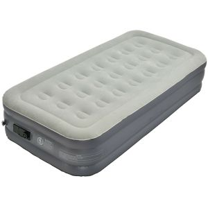 Single Flocking Air Mattress High Inflatable Bed