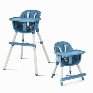 3 IN 1 High Chair with Footrest and 5 Point Safety Harness