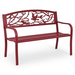 2 Seater Garden Bench with Metal Frame