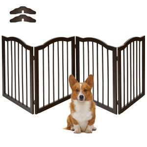 Pine Wooden Pet or Baby Fence with 4 Panels