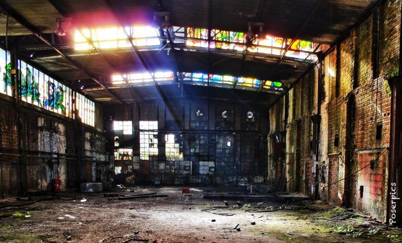 Bei einer Lost Place Foto-Tour mit Freunden fotografierte Poser die alte Gießerei an der Bornastraße in Chemnitz. Das Bild wurde mit den Apps Filterstorm und Snapseed verändert. Foto: Robert Poser