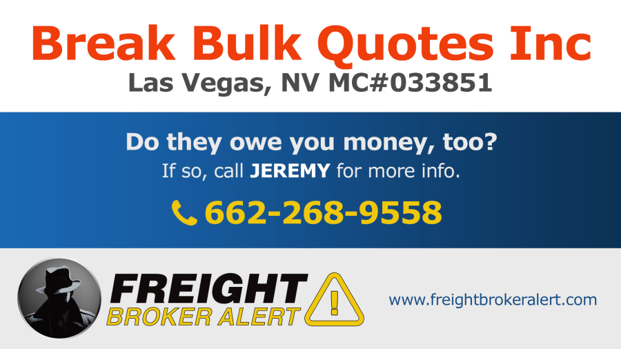 Break Bulk Quotes Inc Nevada