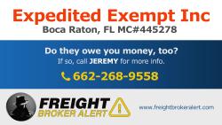 Expedited Exempt Inc Florida