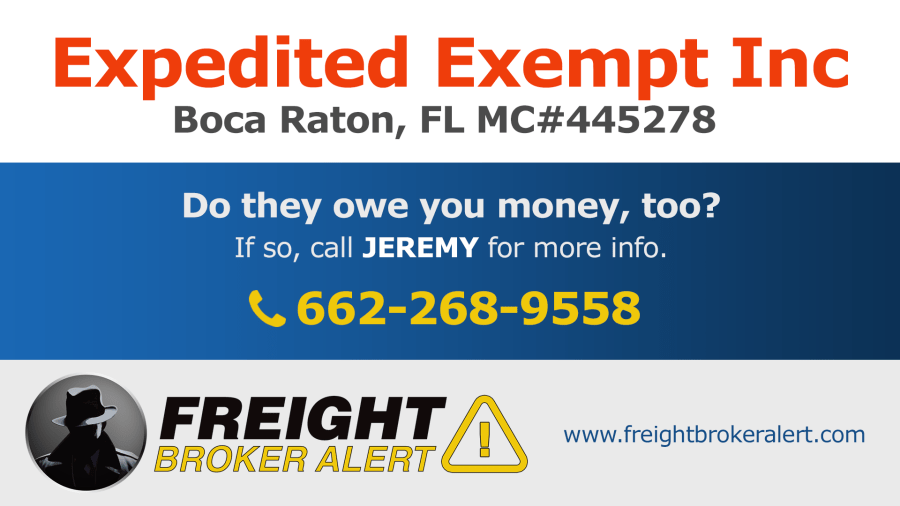 Expedited Exempt Inc Florida