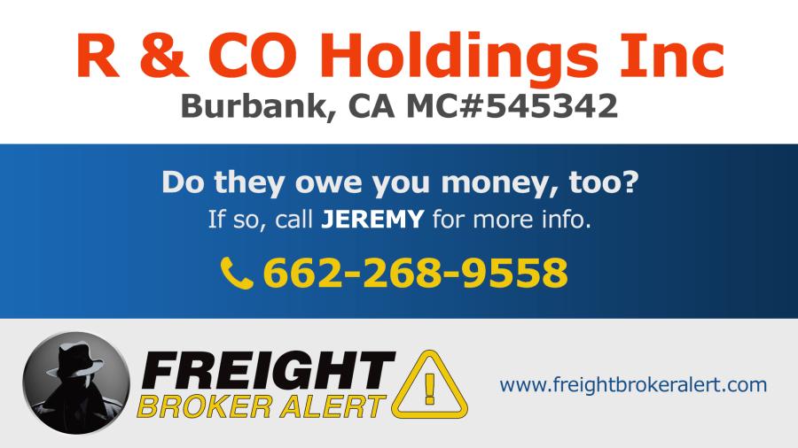 R & CO Holdings Inc California