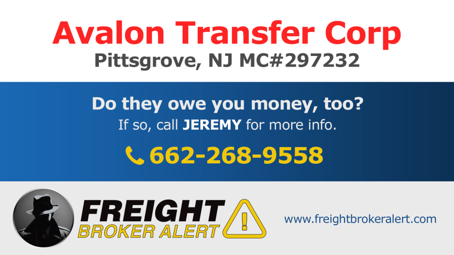 Avalon Transfer Corporation New Jersey