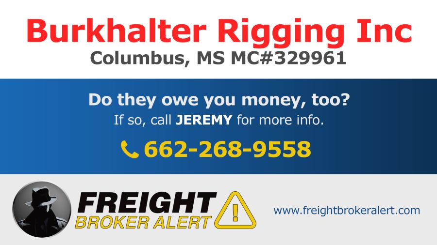 Burkhalter Rigging Inc Mississippi