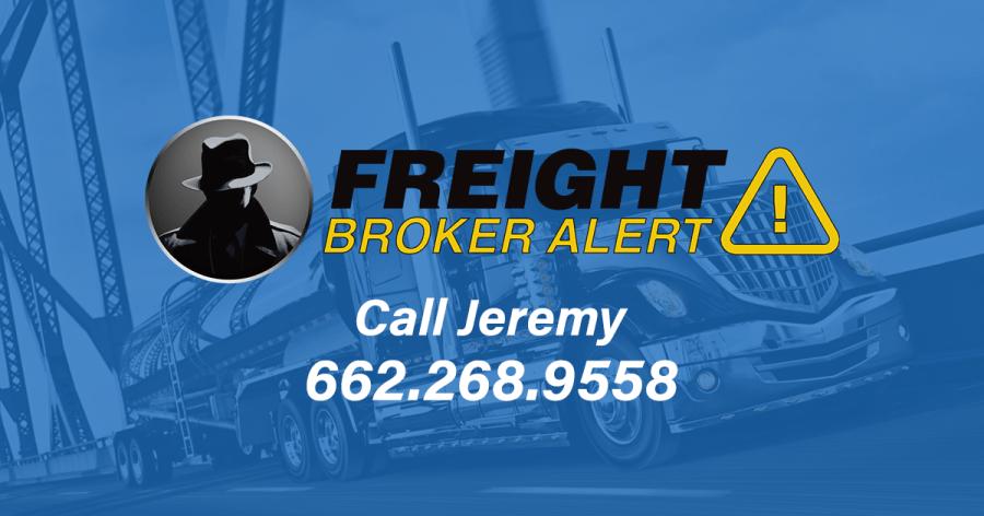 Freight Broker Alert Federal Motor Carrier Safety Administration