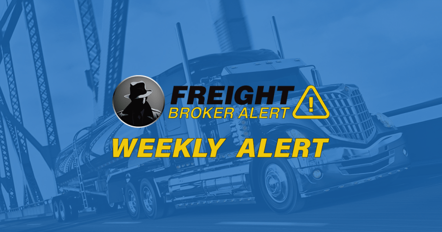 FREIGHT BROKER ALERT WEEKLY NEW DEBTOR ALERT 11-28-18