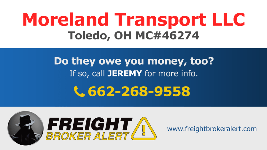 Moreland Transport LLC Ohio