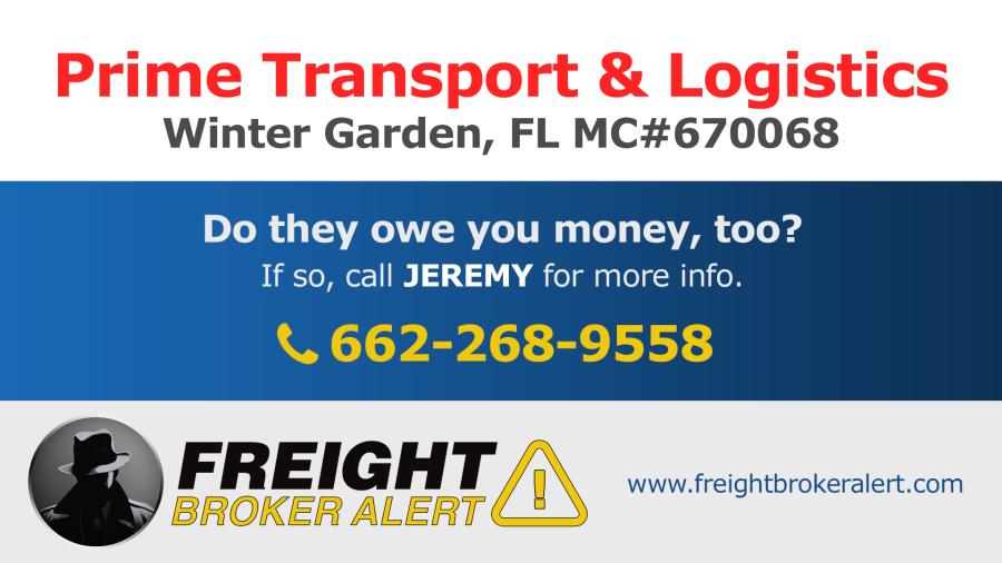 Prime Transport & Logistics LLC Florida