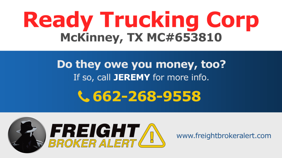 Ready Trucking Corporation Texas