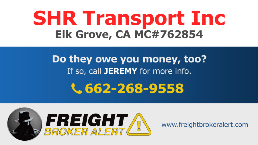 SHR Transport Inc California