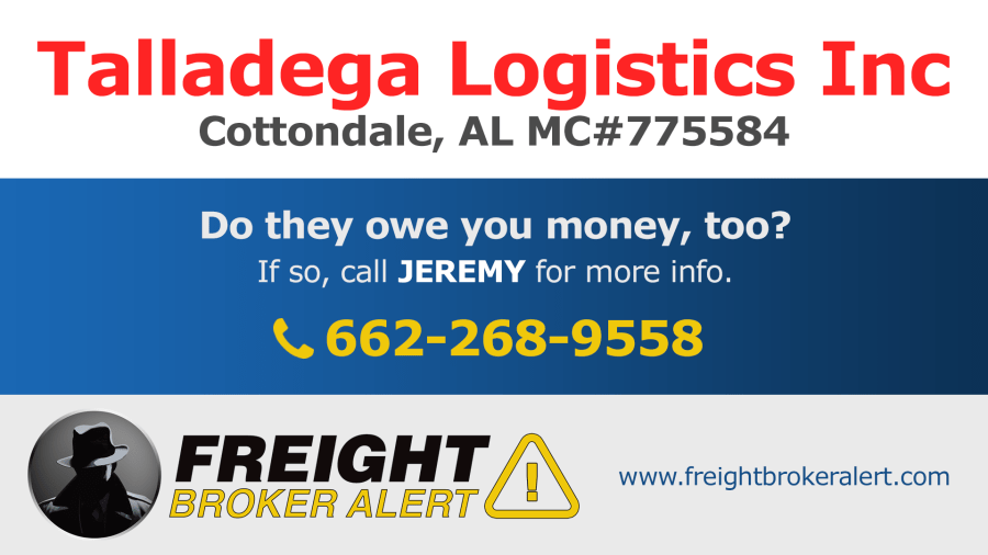 Talladega Logistics Inc Alabama