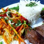 Fusion Cuisine: Asiatische Kräuter|Gemüse|Port-Wildsau