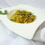 Surreal Fusion Cuisine: Vegane Low Carb Bärlauch-Spaghetti