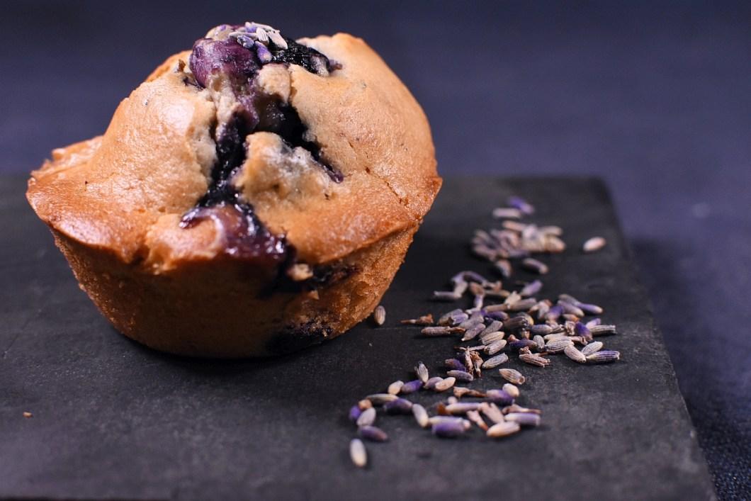 Muffins Blaubeere Weisse Schokolade Lavendel 2