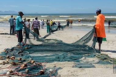 Das Netz und die Fischer bei Fish Hoek