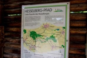 Schild Hesselberg Pfad