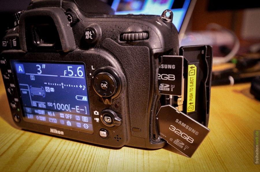 D7100 Speicherkarten