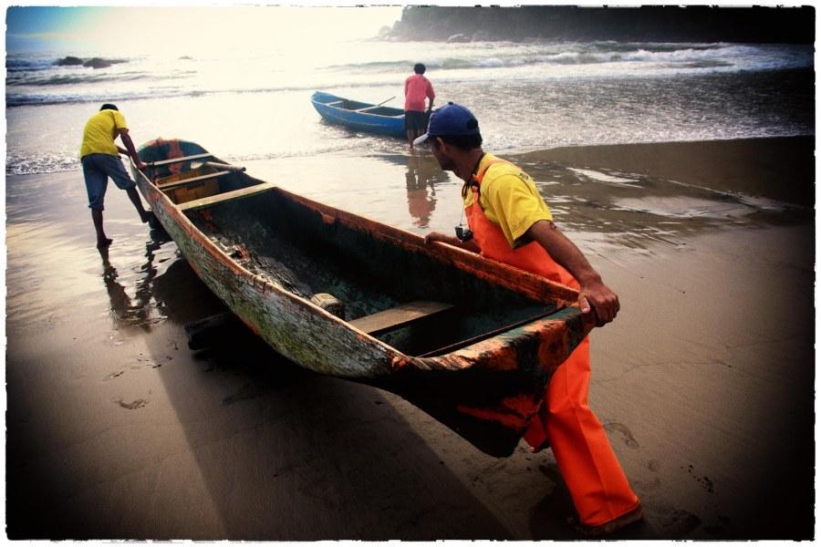 Mann und Boot