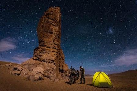 Zeltplatz unter Sternen