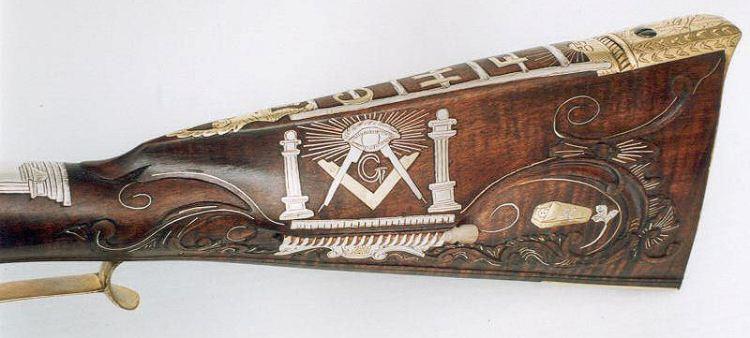 Masonic Inlaid Rifle 1