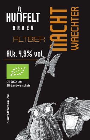 HUNFELT BRAEU NACHT WAECHTER 330 ml, 4,9% Vol.