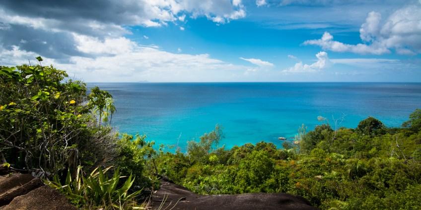 Seychellen - Traumaussicht auf den indischen Ozean