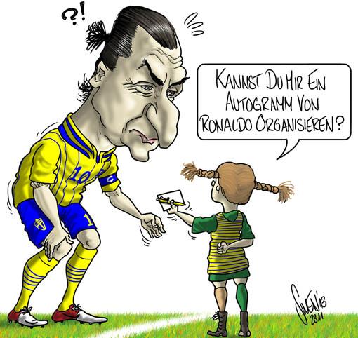Ibrahimovic vs. Ronaldo (Schweden vs. Portual) - WM Brasilien 2014