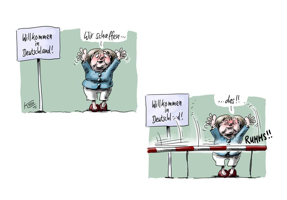 Deutschland macht die Grenzen dicht