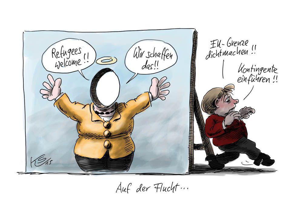 Angela Merkel und die Flüchtlinge