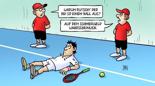 Tennis Wettskandal - Schmiergeld