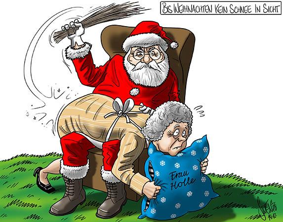 Weisse Weihnachten: Ohne Frau Holle