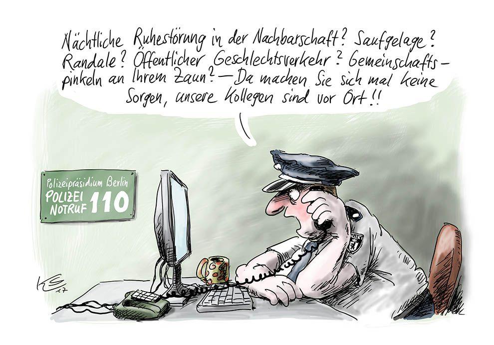 Notruf bei der Polizei