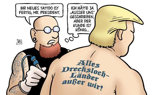 Trump: Alles Drecksloch-Länder