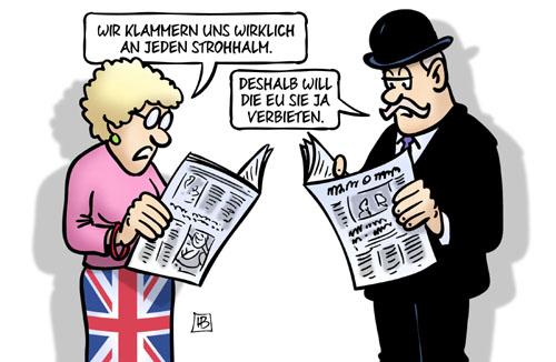 EU verbietet Strohhalme
