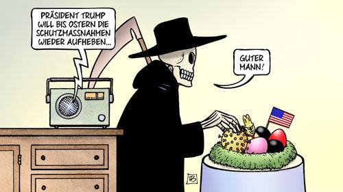 Covid-19: Trump will bis Ostern wieder Normalität