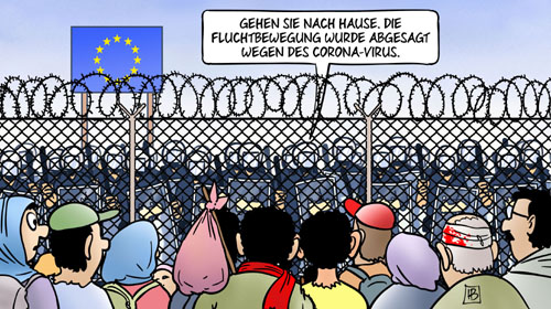 Flüchtlingsbewegung aus der Türkei wegen Coronavirus abgesagt